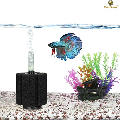 SunGrow Neon Tetra Underwater Corner Aquarium Filter, Works for Tropical Fish & Breeder Aquarium, Perfect for Fry & Small Fish & Must-Have for Aquarium Hobbyist, Airline Tube Not Included, 1 Pack