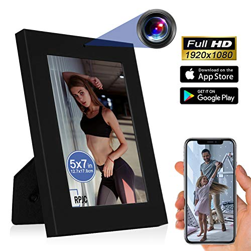 Spy Camera Wireless Hidden ZXWDDP HD 1080P Nanny Cam Baby Pet Monitor WiFi Photo Frame Camera Motion Detection/Indoor Security Monitoring Camera Support Android/iOS