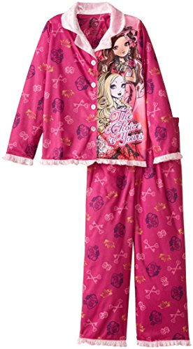 Ever After High Little Girls' Coat Pajama Set with Panel, Pink, Small