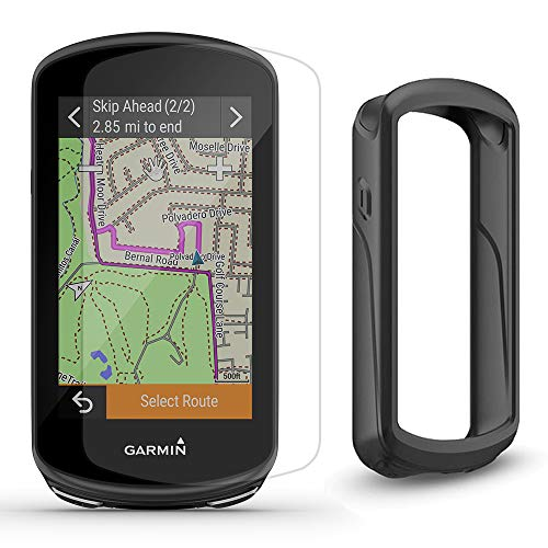 Garmin Edge 1030 Plus GPS Cycling Computer Cycle Bundle | Includes Black Silicone Case & Tempered Glass Screen Protectors | GPS Bike Computer | On-Device Workout, ClimbPro | GPS Only, 010-02424-01
