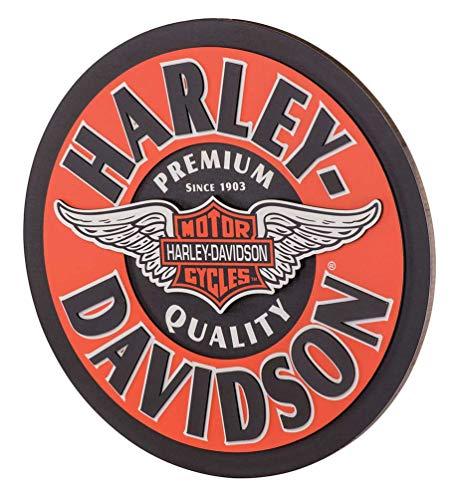 Harley-Davidson Winged Bar & Shield Dimensional Pub Sign, Orange HDL-15320