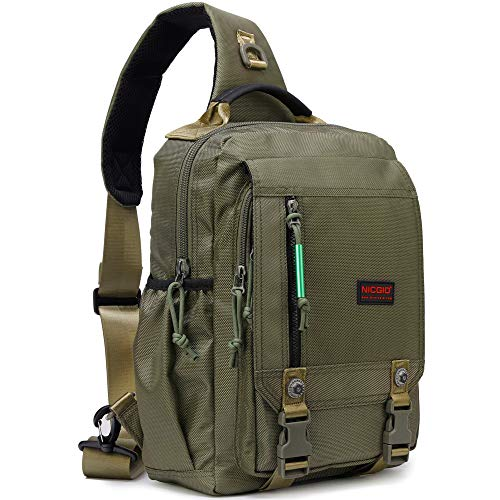 Sling Bags Chest Shoulder Backpacks, 13.3-Inch Laptop Backpack Crossbody Messenger Bag Travel Outdoor Men Women