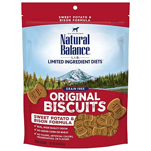 Natural Balance L.I.T. Limited Ingredient Treats Dog Treats, Sweet Potato & Bison Formula, 14 Ounce Bag, Grain Free