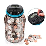 Digital Coin Bank,Amago Piggy Bank,Big Piggy Bank Digital Counting Coin Bank for Kids Adults Boys Girls as Gift on Christmas,Birthday,New Year's day,Powered by 2AAA Battery (Not Included)