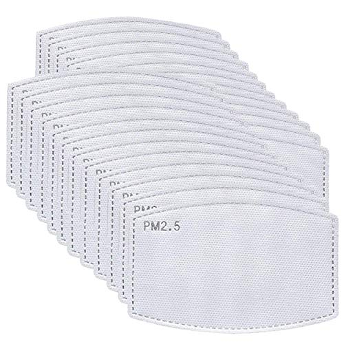 PM2.5 Activated Carbon Filter Atrest Activated Carbon Filter Insert 5 Layers,Effective Non-Woven Fabrics Cotton Filter 100PCS