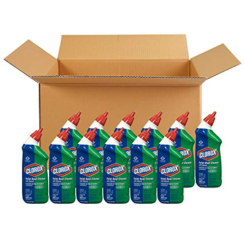 Clorox COX00031CT Toilet Bowl Cleaner with Bleach, Fresh Scent - 24 Ounces, 12 Bottles/Case (00031)