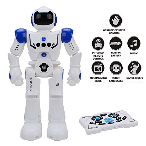 Happytime Remote Control Intelligent Robot Toy Smart Action Robot Walking Sing Dancing Programmable and Gesture Sensing for Children Kids Entertainment