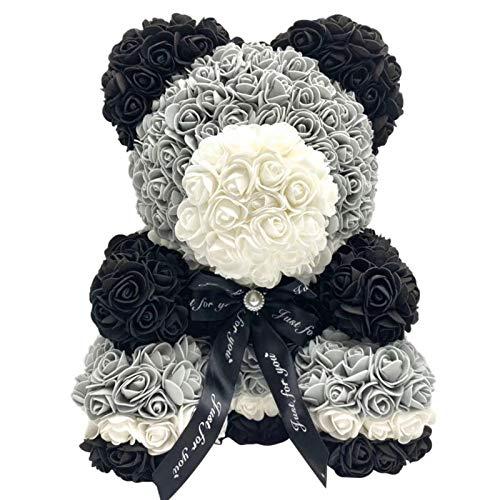 wujomeas Rose Bear Flower, Rose Teddy Bear, Artificial Flower Decoration for Valentine 's Day, Birthday Party, Wedding Decor, Girlfriend Gift