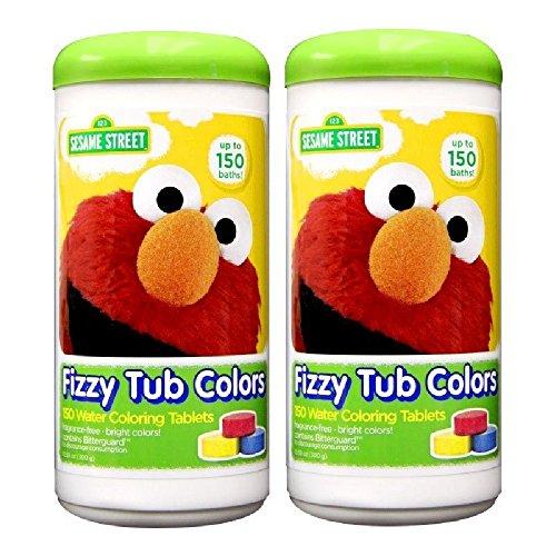 Sesame Street Fizzy Tub Color Tablets, 150 Baths - 2 Pack