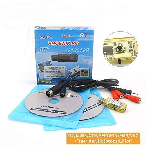 New Version Xiangtat 22 in 1 Simulator RC USB Flight Simulator Cable Support Realflight G7/ G6 G5.5 G5 Phoenix 5.0 AEROFLY FMS Series