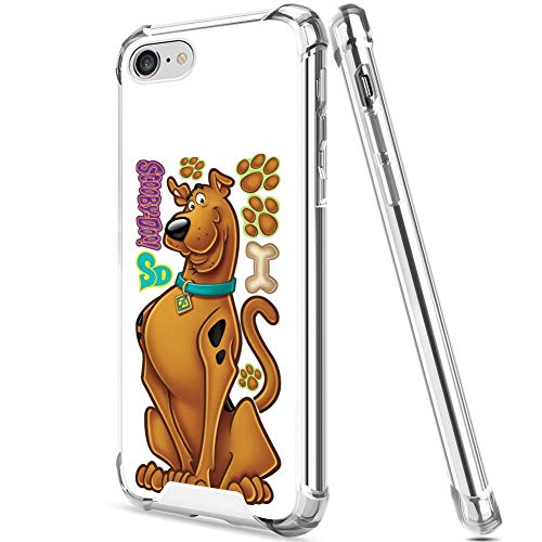 DISNEY COLLECTION TPU Case Fit for iPhone 7 or iPhone 8 or iPhone SE 2020 (4.7 Inch) Scooby Doo