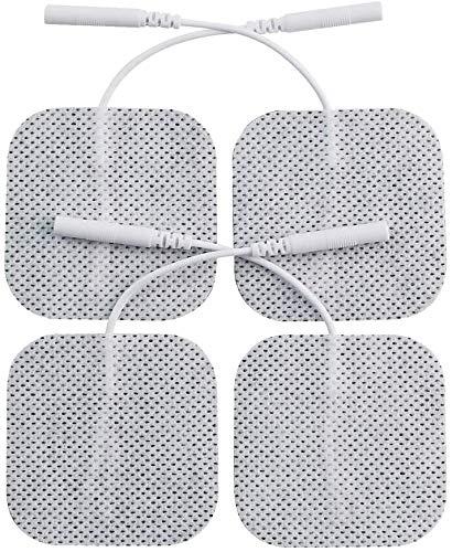 Angel Premium TENS/EMS Unit 40 Electrode Pads 2'x2' in. Reusable Self Stick Gel Carbon Electrodes