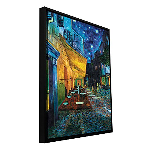 ArtWall 'Cafe Terrace at Night Floater Framed Gallery-Wrapped Canvas Art by Vincent Van Gogh, 36 by 48-Inch, Holds 34.5 by 46.5-Inch Image