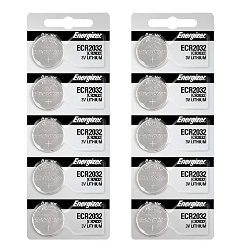 Energizer 2032 Battery CR2032 Lithium 3v (1 Pack of 10)