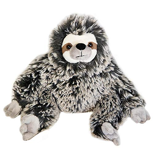 The Petting Zoo, Three-Toed Sloth Stuffed Animal, Gifts for Kids, Super Soft Frosted Brown Sloth Plush Toy, 13 inches