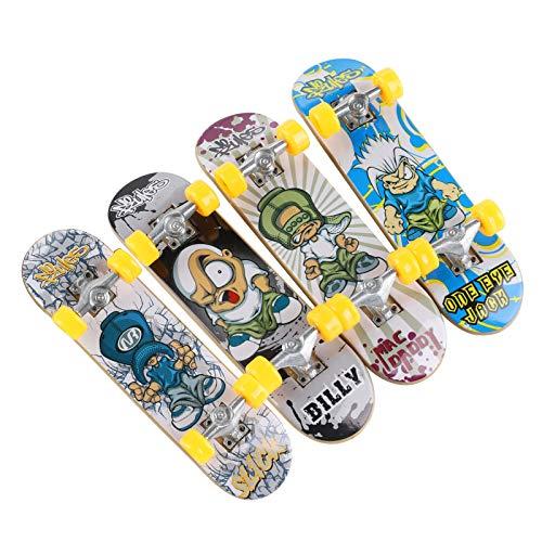Finger Toys 4 PCS - Professional Finger Board TIME4DEALS Mini Fingerboard Skateboard Creative Fingertips Movement Skateboard Educational Finger Toy Favors Novelty Toys for Kids Party