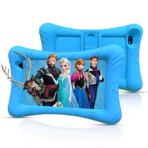 Pritom Kids Tablet, 32 GB ROM,Quad Core Processor, HD IPS Display,WiFi 7 inch Android Tablet,Tablet for Kids with Case
