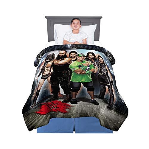 Franco Kids Bedding Soft Microfiber Reversible Comforter, Twin/Full Size 72' x 86', WWE Super Stars