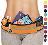 Waist Pack Best Running Belt Fanny Pouch Waistband Case (Orange) For iPhone 5 5S SE 6 6S 7 8 Plus X Samsung Galaxy S4 S5 S6 S7 S8 S9 Note 5 Huawei P20 10 Pro LG G7 Google Pixel 2 XL Oneplus 5T Xperia