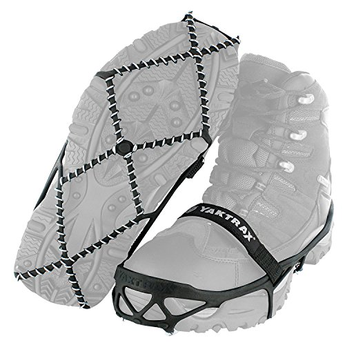 YakTrax 8611 Pro Traction Cleats for Walking, Jogging, or Hiking on Snow and Ice, Medium