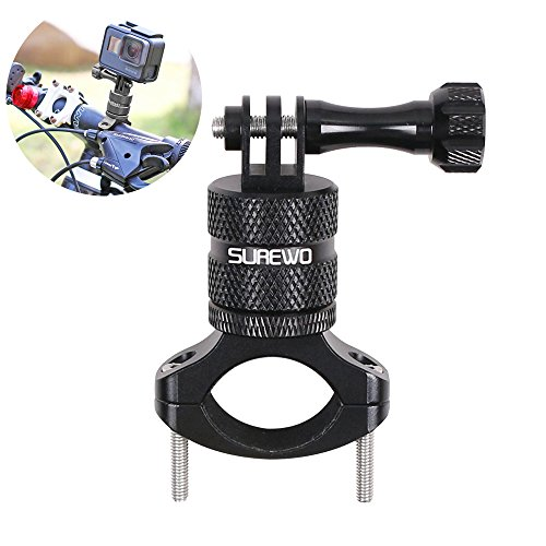 SUREWO Bike Handlebar Mount for GoPro Hero 8/7/6/5 Black,GoPro Max,Camera Aluminum Mountain Bike Mount Compatible with DJI Osmo Action,Xiaomi YI,Crosstour,Insta360 ONE R and Most Action Cameras