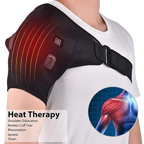 Heated Shoulder Wrap Brace Shoulder Heating Pad for Pain Relief Frozen Shoulder Pain Bursitis Labrum Tear Relax Shoulder Muscles (NOT Wireless)