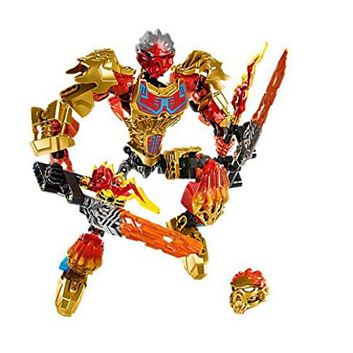 Bevle XSZ 611-1 Biochemical Warrior BionicleMask of Light Bionicle Tahu Fire Building Block Compatible Bionicle 71308 Toys Without Original Box