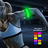 BSEEN (TM LED Armband, Party Favor Light up Glow Bracelets Event Wristbands, Sports Safety Armband for Running, Jogging, Cycling, Hiking (Yellow Green)