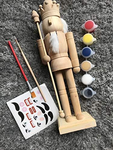 Paint Your Own Nutcrackers, Handmade 24cm Tall Unpainted Nutcrackers