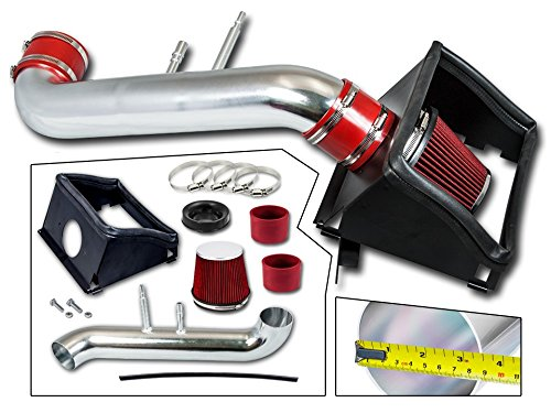 Cold Air Intake System with Heat Shield Kit + Filter Combo RED Compatible For 15-20 Ford F150 5.0L V8