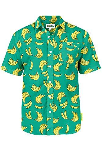 Tipsy Elves The Havana Banana Hawaiian Shirt: X-Large