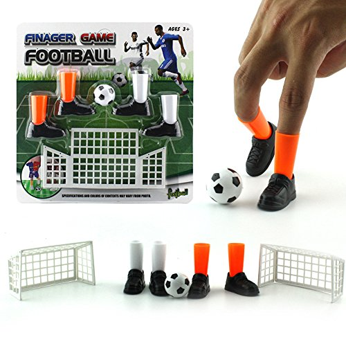 Ktyssp Ideal Party Finger Soccer Match Toy Funny Finger Toy Game Sets with Two Goals (A)