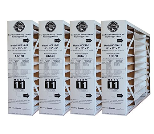 X6670 Lennox OEM Merv 11 Filter Media 16'X25'X5' Fits X6660 HCC16-28 Genuine Lennox X6670 (2 X Pack of 2)