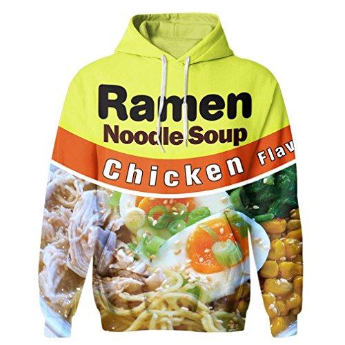 SAYM Unisex Galaxy Pockets 3D Pullover Hoodie Hooded Sweatshirts Hoodies NO34 L