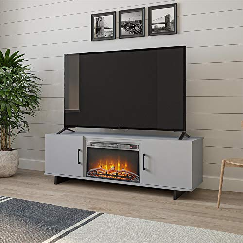 Ameriwood Home Southlander Fireplace 60', Dove Gray TV Stand,