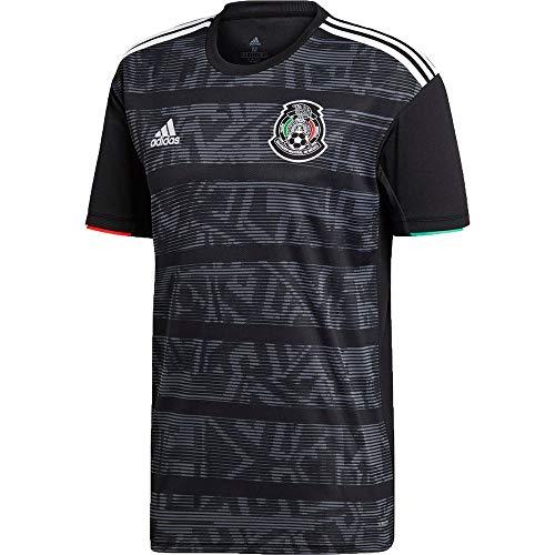 Mexico Home Soccer Jersey Copa Oro 2019 Seleccion Mexicana Black (Black, M)