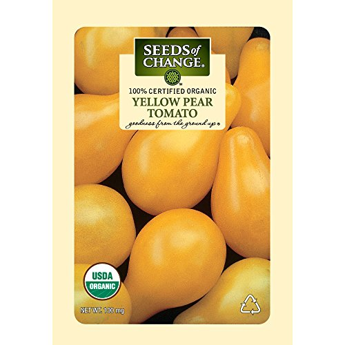 Seeds of Change Certified Organic Tomato, Yellow Pear - 100 milligrams, 25 Seeds Pack