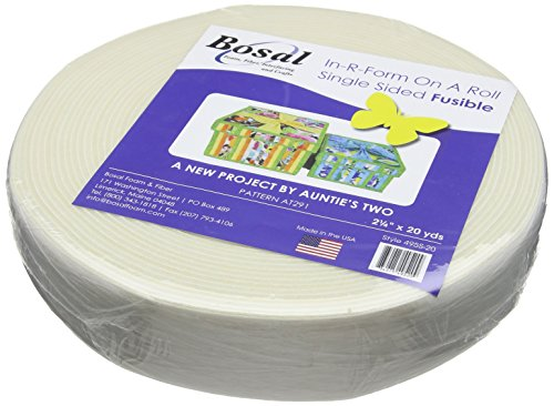 Bosal in-R-Form Unique Fusible Foam Stabilizer-2.25 inch x 20yd, Transparent