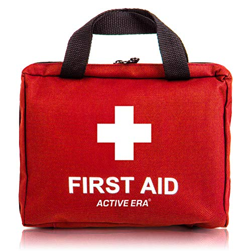 Active Era Small First Aid Kit - All-Purpose 90 Pieces First Aid Kit for Camping and Hiking with Medical Supplies and Handle - First Aid Kit for Home, Cars