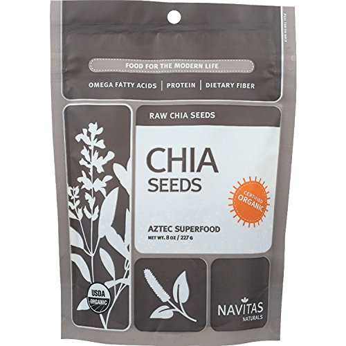 Navitas Naturals Chia Seeds - Organic - Raw - 8 oz - case of 12 - 100% Organic - Yeast Free - Wheat Free-Vegan