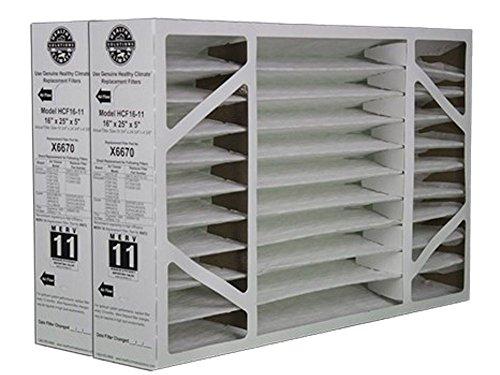 2 Pack of X6670 Lennox OEM Merv 11 Filter Media 16'X25'X5' Fits X6660 HCC16-28 Genuine Lennox X6670
