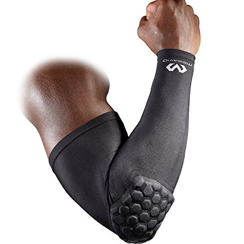 McDavid 6500 HexPad Shooter Arm Sleeve, One Each Fits either Arm (Black, Large)