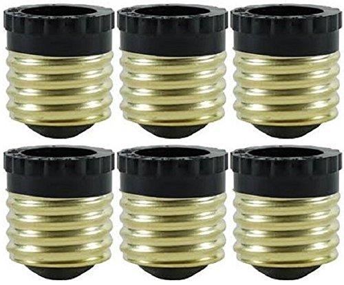 Pack of 6 E26 to E12 Converter Medium Screw E26 to Candelabra Screw E12 Socket Reducer Light Bulb Base Socket Adapter