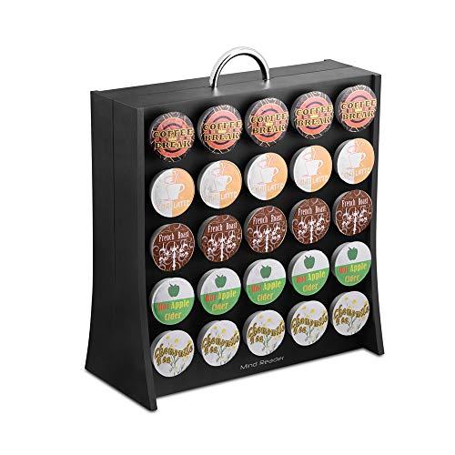 Mind Reader 50 Capacity Single Serve Coffee Pod Portable Holder Storage Organizer, Black, 5.20' (L) x 12.68' (W) x 14.48' (H)