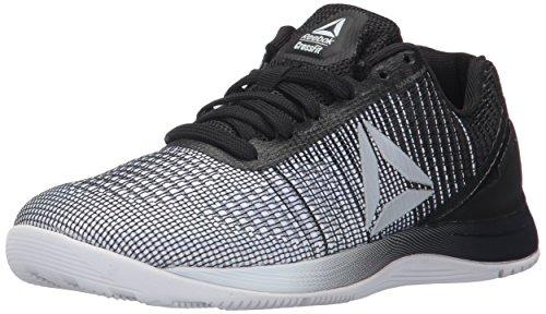 Reebok Women's CROSSFIT Nano 7.0 Track Shoe, White/Black/Silver Metallic, 9.5 M US