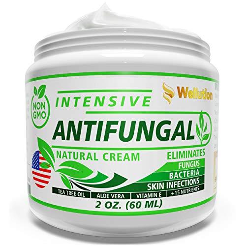 Antifungal Cream - Natural Hair, Skin & Nail - All in One, Intensive Head to Toe Treatment - Extra Strength Antimicrobial (Anti-Bacterial, Anti-Inflammatory, Anti-Viral & Anti-fungal)