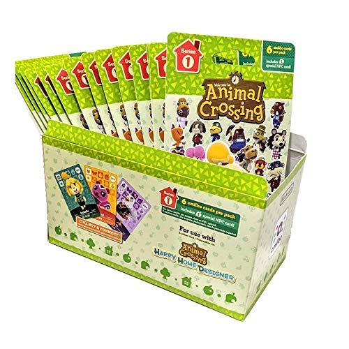 Animal Crossing Amiibo Cards Series 1 – Full box (18 Packs) (6 Cards Per Pack/108 Cards)