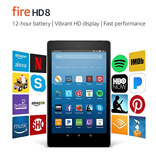 Fire HD 8 Tablet with Alexa, 8' HD Display, 32 GB, Black - with Special Offers (Previous Generation – 7th)