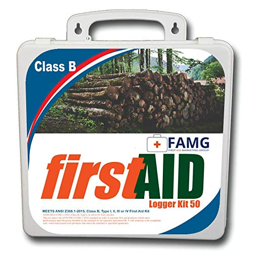 Large 50 Person Logger First Aid Kit, Meets 1910.266 Requirements, Class B, Plastic