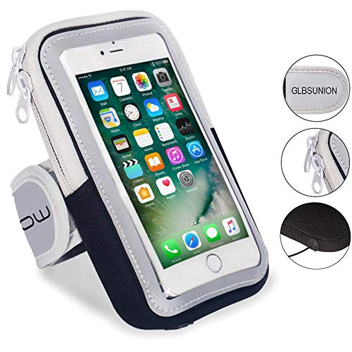 GLBSUNION Multifunctional Outdoor Sports Armband Sweatproof Running Armbag Casual Arm Package Bag Gym Fitness Cell Phone Bag Key Holder for iPhone X 8 7Plus 6sPlus Samsung Galaxy Note 5 4 S8 S7 Edge